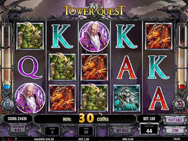 Tower Quest Slot från Play'n GO – Spela gratis online