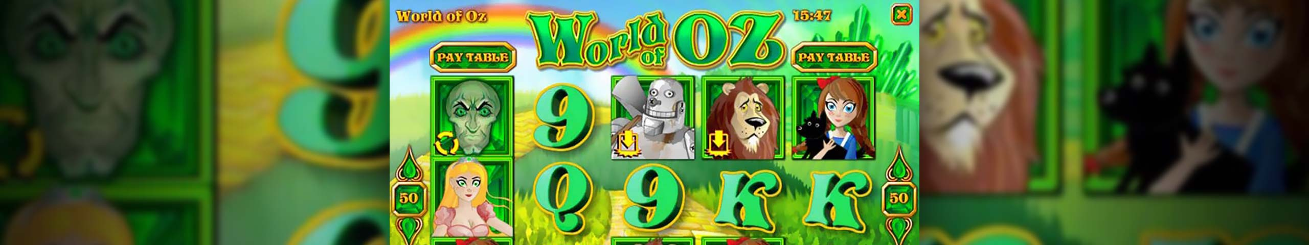 Spelautomater World of Oz, Rival Gaming Slider - Wyrmspel.com