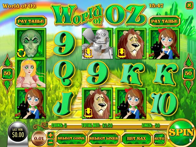Spelautomater World of Oz, Rival Gaming SS - Wyrmspel.com
