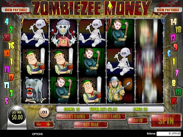 Spelautomater Zombiezee Money, Rival Gaming Slider - Wyrmspel.com
