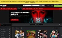 Screen by casino Betsafe