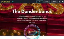Screen by casino Dunder