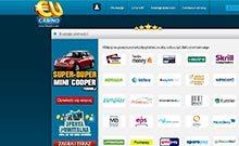 EUcasino kasino översyn skärmdump på  wyrmspel.com 3