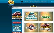 EUcasino kasino översyn skärmdump på  wyrmspel.com 1