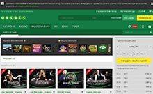 Screen by casino Unibet