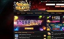 Videoslots kasino översyn skärmdump på  wyrmspel.com 2
