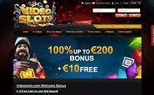 Videoslots kasino översyn skärmdump på  wyrmspel.com 1