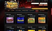 Videoslots kasino översyn skärmdump på  wyrmspel.com 3
