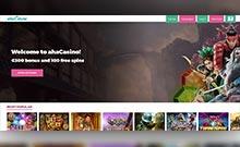 ahaCasino kasino översyn skärmdump på  wyrmspel.com 2
