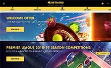 Bethard kasino översyn skärmdump på  wyrmspel.com 2