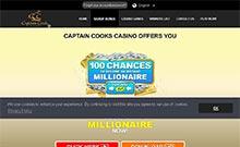 Captain Cooks kasino översyn skärmdump på  wyrmspel.com 2