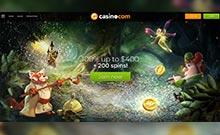 Casino.com kasino översyn skärmdump på  wyrmspel.com 1