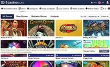 Casino Euro kasino översyn skärmdump på  wyrmspel.com 3