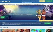 Eurobet kasino översyn skärmdump på  wyrmspel.com 1