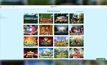 Lucky Casino kasino översyn skärmdump på  wyrmspel.com 2
