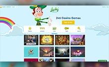 Lucky Casino kasino översyn skärmdump på  wyrmspel.com 3