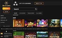 MoboCasino kasino översyn skärmdump på  wyrmspel.com 1