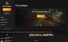 MoboCasino kasino översyn skärmdump på  wyrmspel.com 2