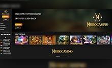 MoboCasino kasino översyn skärmdump på  wyrmspel.com 3