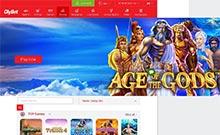 OlyBet kasino översyn skärmdump på  wyrmspel.com 2