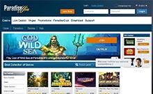 ParadiseWin kasino översyn skärmdump på  wyrmspel.com 2