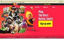 Spinit kasino översyn skärmdump på  wyrmspel.com 1