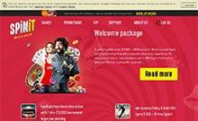 Spinit kasino översyn skärmdump på  wyrmspel.com 2