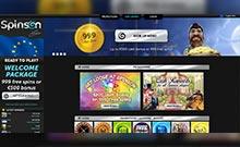 Spinson kasino översyn skärmdump på  wyrmspel.com 3