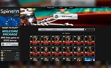 Spinson kasino översyn skärmdump på  wyrmspel.com 4