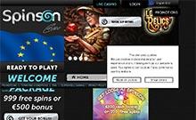Spinson kasino översyn skärmdump på  wyrmspel.com 1
