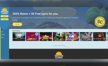 SwedenCasino kasino översyn skärmdump på  wyrmspel.com 2