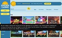 SwedenCasino kasino översyn skärmdump på  wyrmspel.com 1