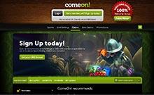 ComeOn kasino översyn skärmdump på  wyrmspel.com 3