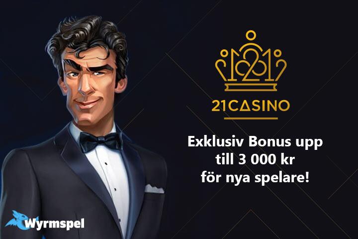 21 casino välkomstbonus